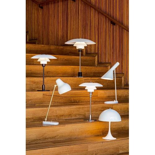 Louis Poulsen PH 3/2 table lamp, chrome plated, opal glass
