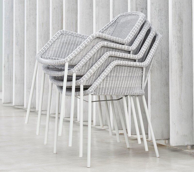 Cane Line Breeze Dining Chair Stackable White Grey Finnish Design Shop