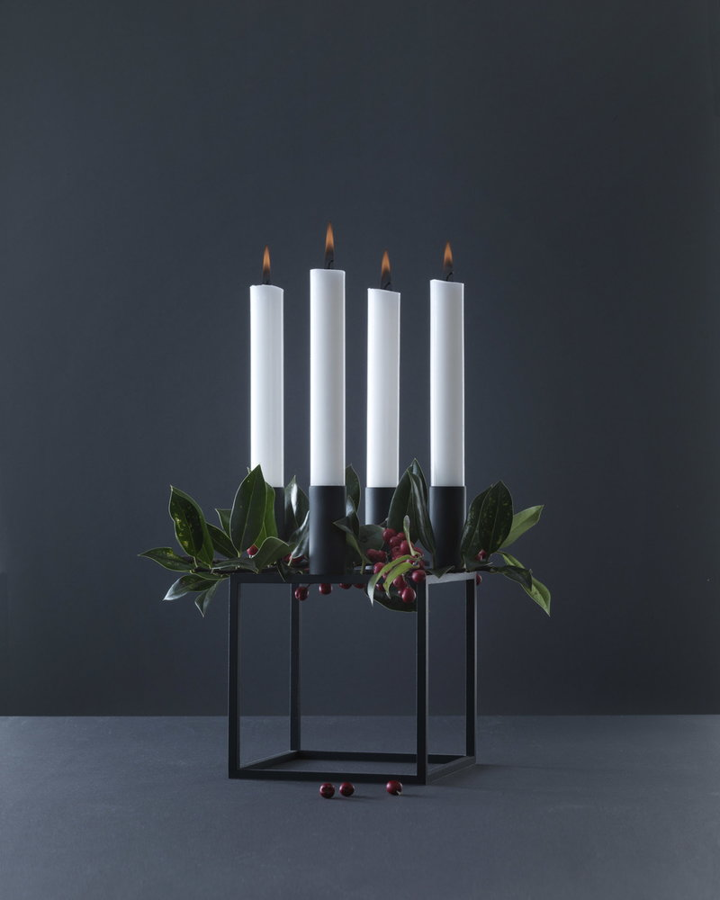 by lassen kubus 4 candleholder black finnish design shop. Black Bedroom Furniture Sets. Home Design Ideas