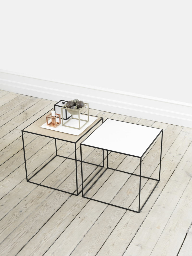 by lassen twin 42 table white oak finnish design shop. Black Bedroom Furniture Sets. Home Design Ideas