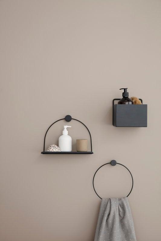 Porta Asciugamani Country.Bathroom Shelf Black