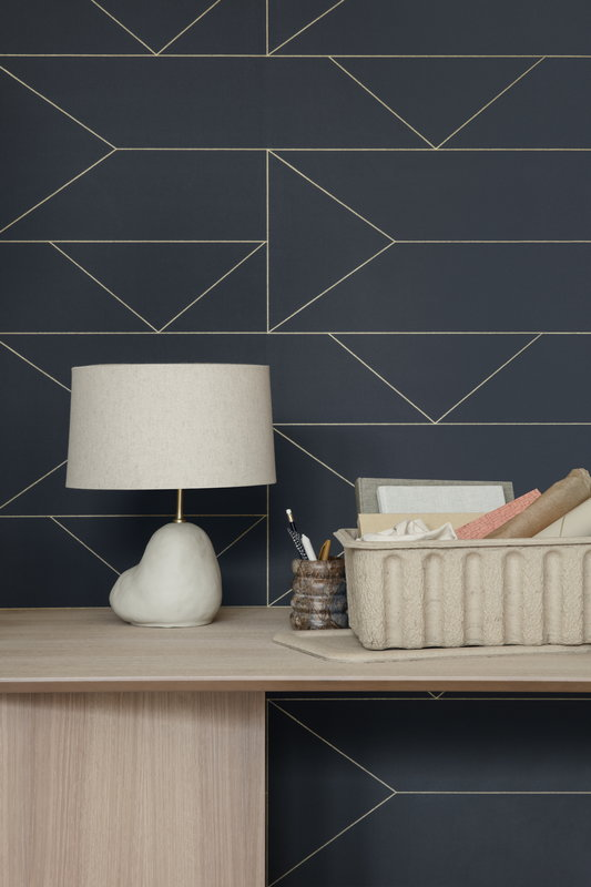 Ferm Living Lines Wallpaper Graphite Finnish Design Shop