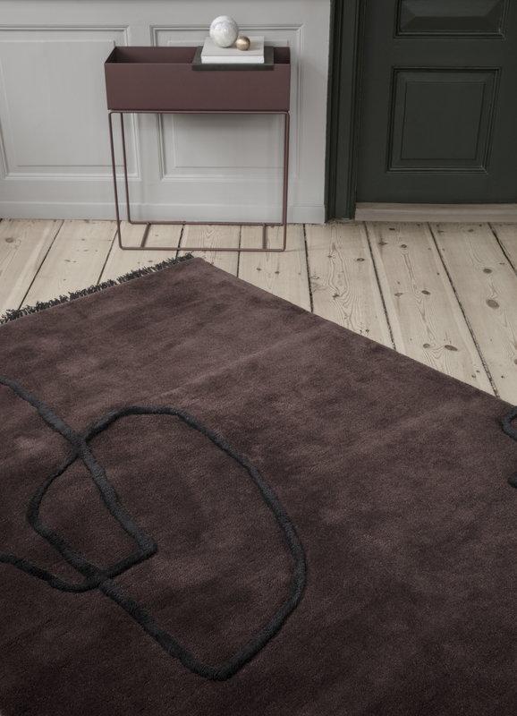 ferm living desert tufted rug red brown finnish design shop. Black Bedroom Furniture Sets. Home Design Ideas