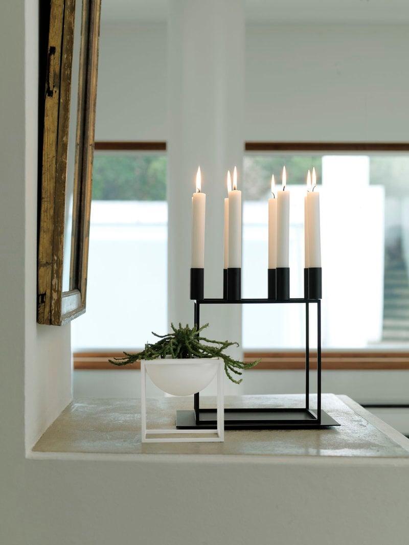 by lassen kubus 8 candleholder black finnish design shop. Black Bedroom Furniture Sets. Home Design Ideas