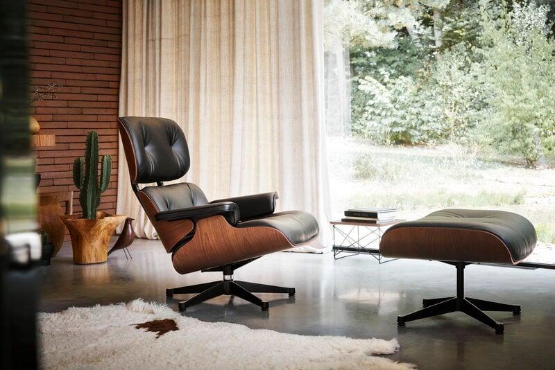 Vitra Eames Lounge Chair Classic Size American Cherry Black Leathe Finnish Design Shop