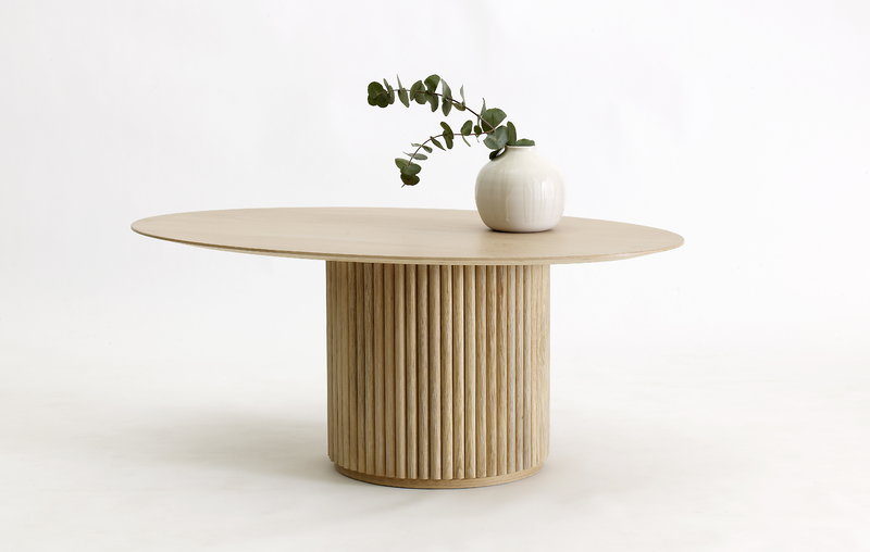 Asplund Palais Ovale Coffee Table White Stained Oak Finnish Design Shop