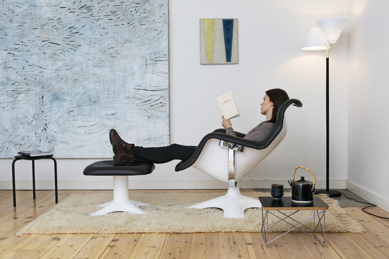 Karuselli Sessel artek karuselli chair, black-white | finnish design shop