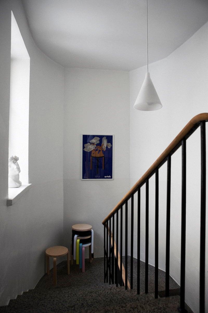 artek poster 80 years stool 60 finnish design shop. Black Bedroom Furniture Sets. Home Design Ideas
