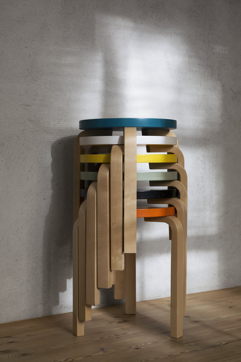 Groovy Aalto Stool 60 Black Birch Creativecarmelina Interior Chair Design Creativecarmelinacom