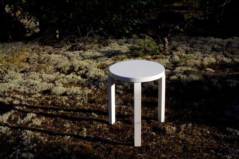 Artek sgabello aalto laccato bianco finnish design shop