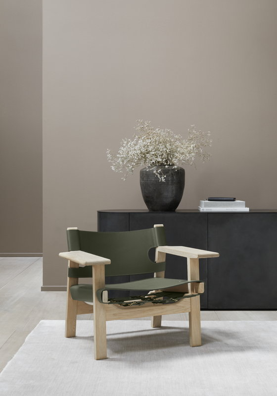 Fredericia The Spanish Chair Olive Green Leather Soaped Oak