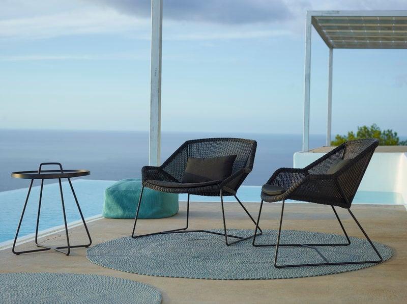 Breeze Lounge Chair, Black. Manufacturer: Cane Line ...