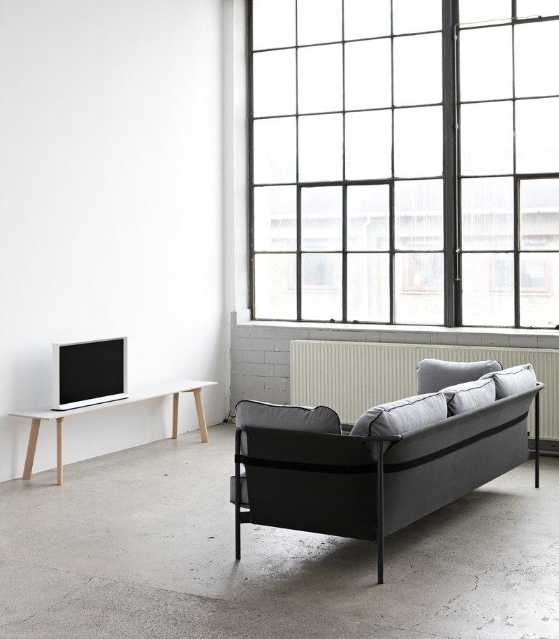 hay can sofa 3 seater black army frame surface 120 finnish design shop. Black Bedroom Furniture Sets. Home Design Ideas