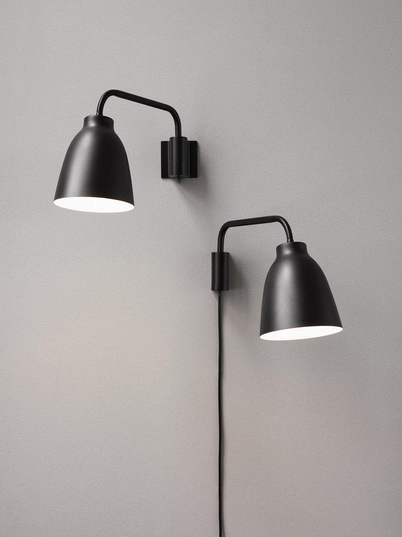 Lightyears Caravaggio Read wall lamp, matt black | Finnish Design Shop