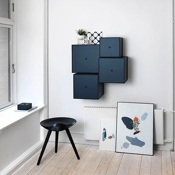 By Lassen Frame 28 box with door, dark blue | Finnish Design Shop