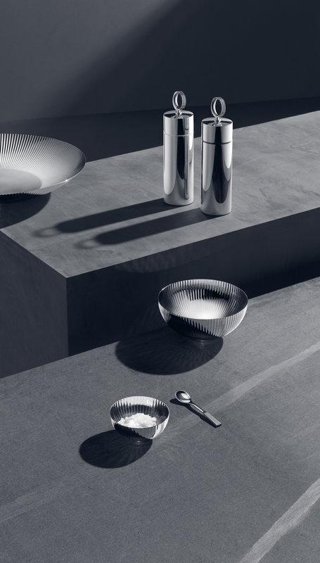 Georg Jensen Bernadotte Mirror Polished Stainless Steel Pepper Grinder