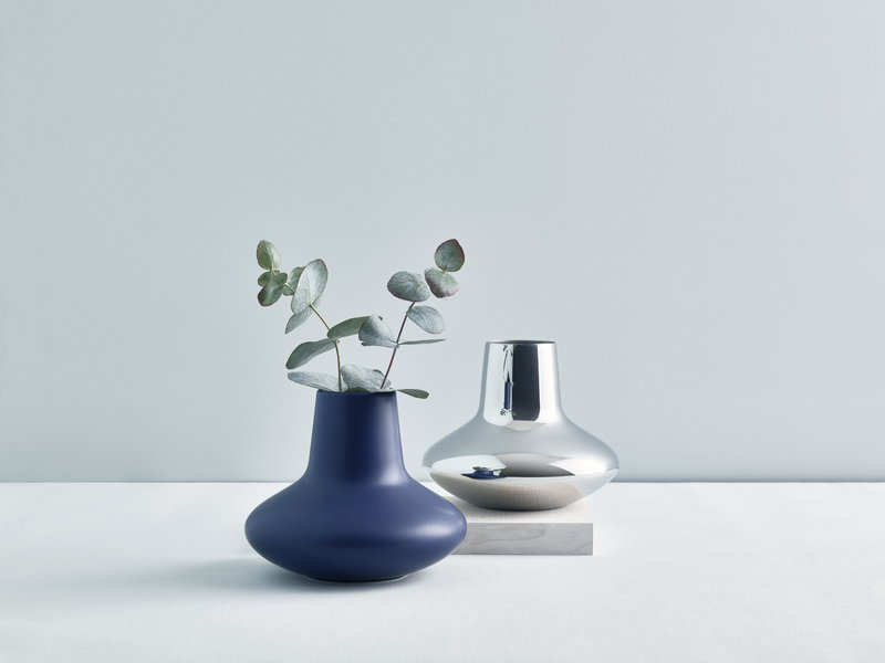 Georg Jensen Hk Vase Blue Medium Finnish Design Shop