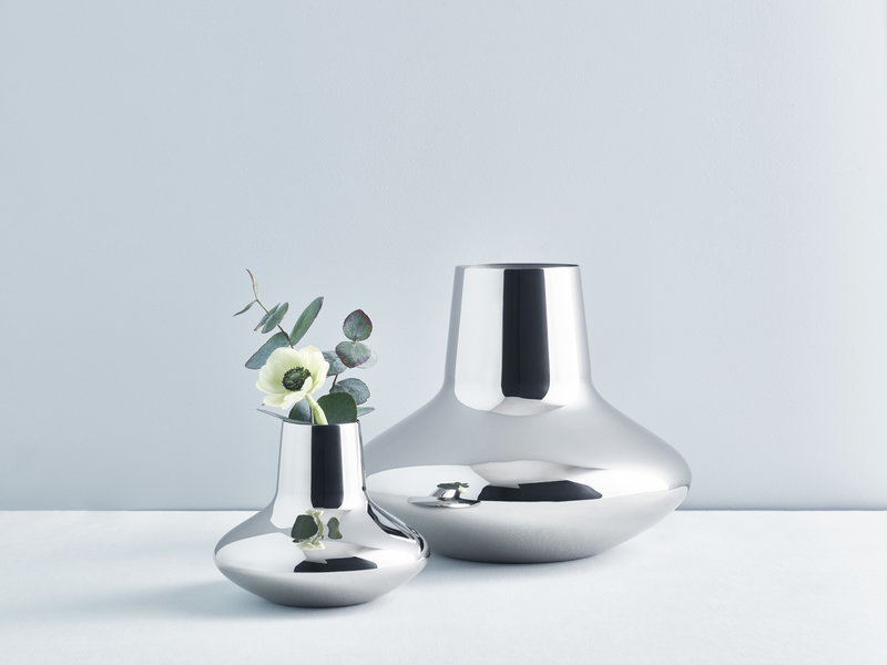 Georg Jensen Hk Vase Steel Large Finnish Design Shop