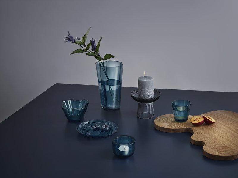 Iittala Aalto Bowl 75 Mm Sea Blue Finnish Design Shop
