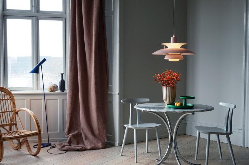 Louis Poulsen AJ floor lamp, midnight blue | Finnish ...
