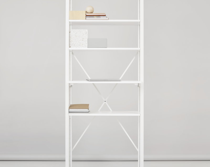 brand new b2274 ff943 Classic open shelf, narrow, white