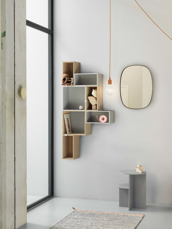 Muuto Framed mirror, small, taupe | Finnish Design Shop