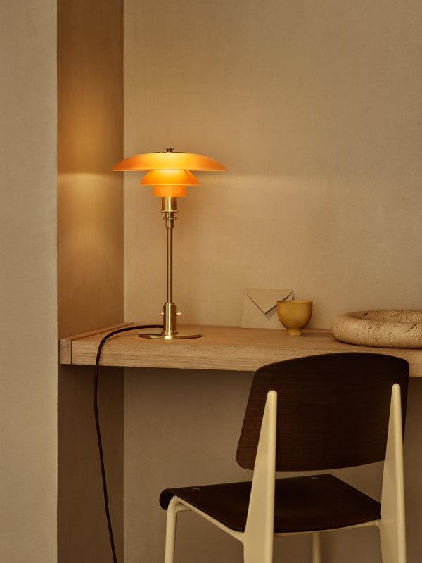 Louis Poulsen PH 3 2 Table Lamp, Amber