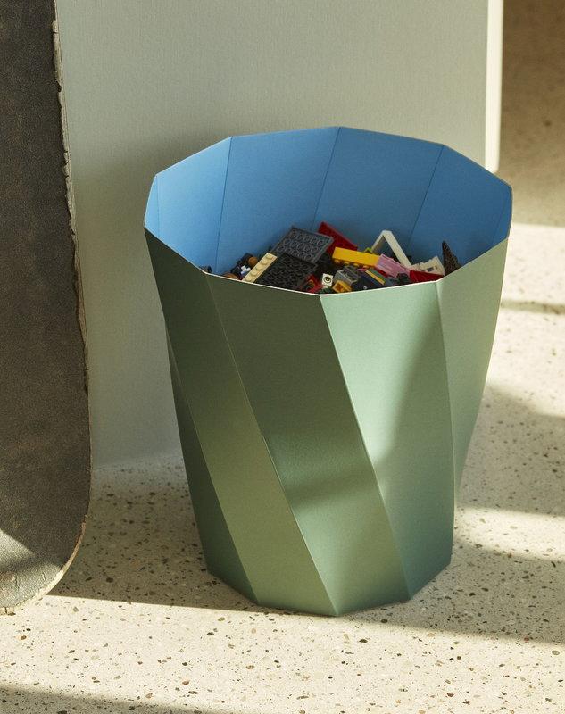 Hay Paper Paper Bin Dark Green Finnish Design Shop