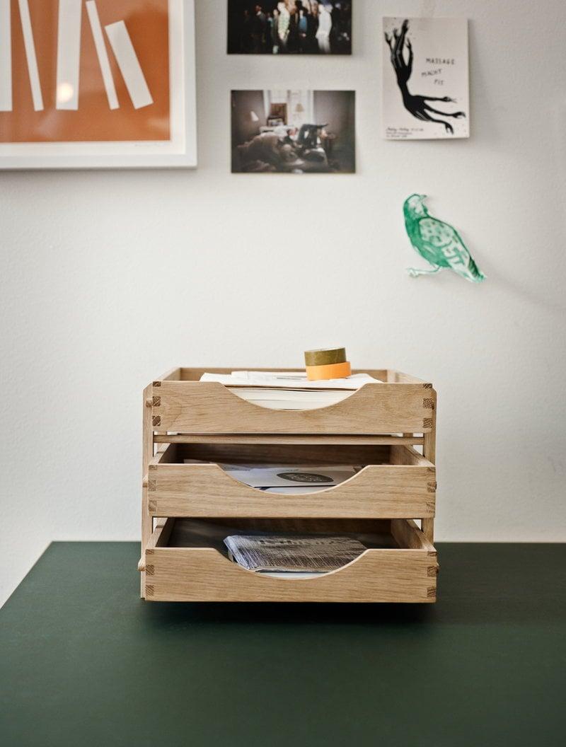 Dania letter tray, oak