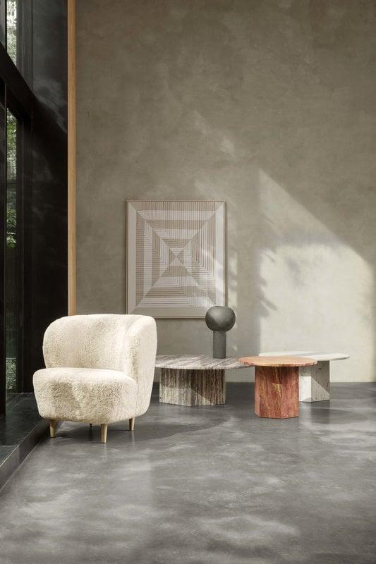 Gubi Stay Lounge Chair Small Off White Curly Sheepskin Oak Finnish Design Shop