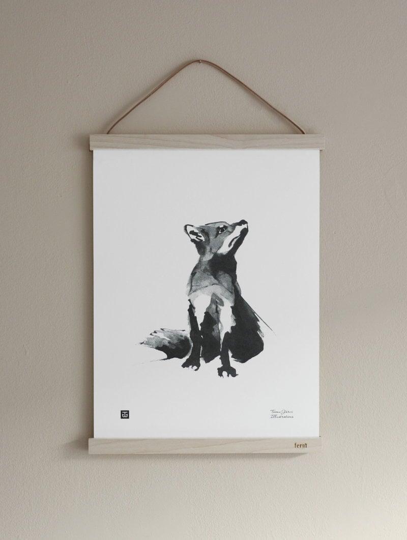 teemu järvi illustrations fox poster, 30 x 40 cm | finnish design shop, Powerpoint templates