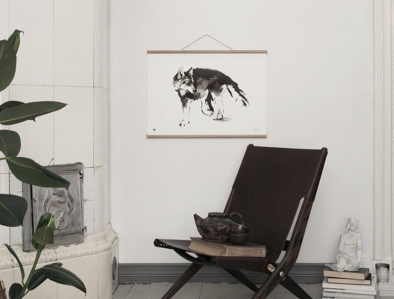 teemu järvi illustrations wooden poster frame 50 cm finnish