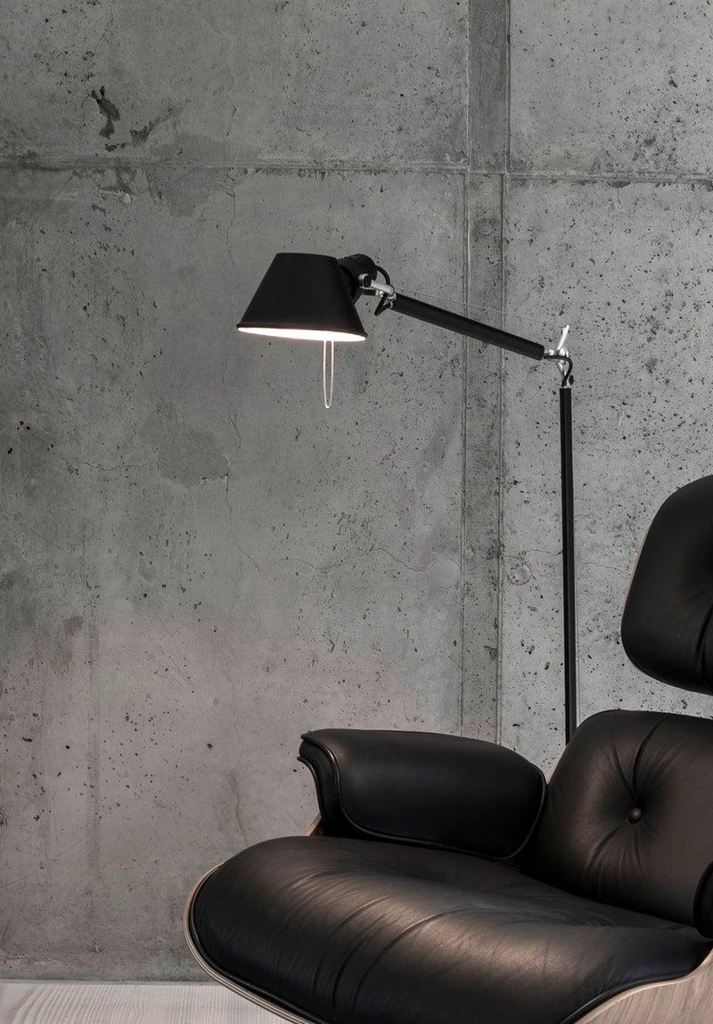 Artemide lampada da terra tolomeo lettura nera finnish for Lampada da lettura