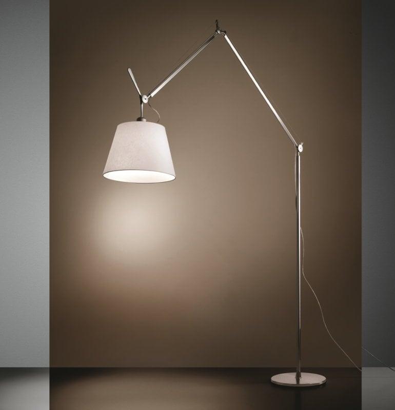 artemide tolomeo mega floor lamp 36 cm aluminium parchment finnish design shop
