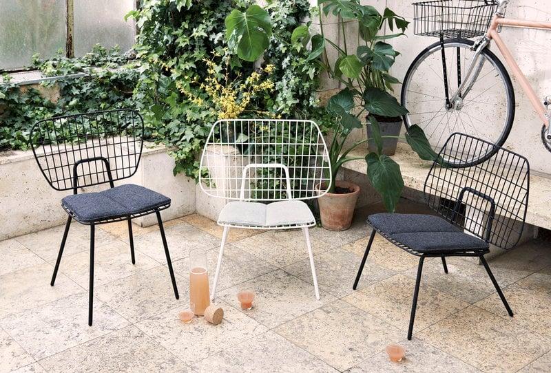 Menu Wm String Cushion For Lounge Chair Indoor Dark Grey