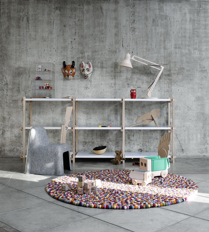Hay Woody low shelving system, white Finnish Design Shop