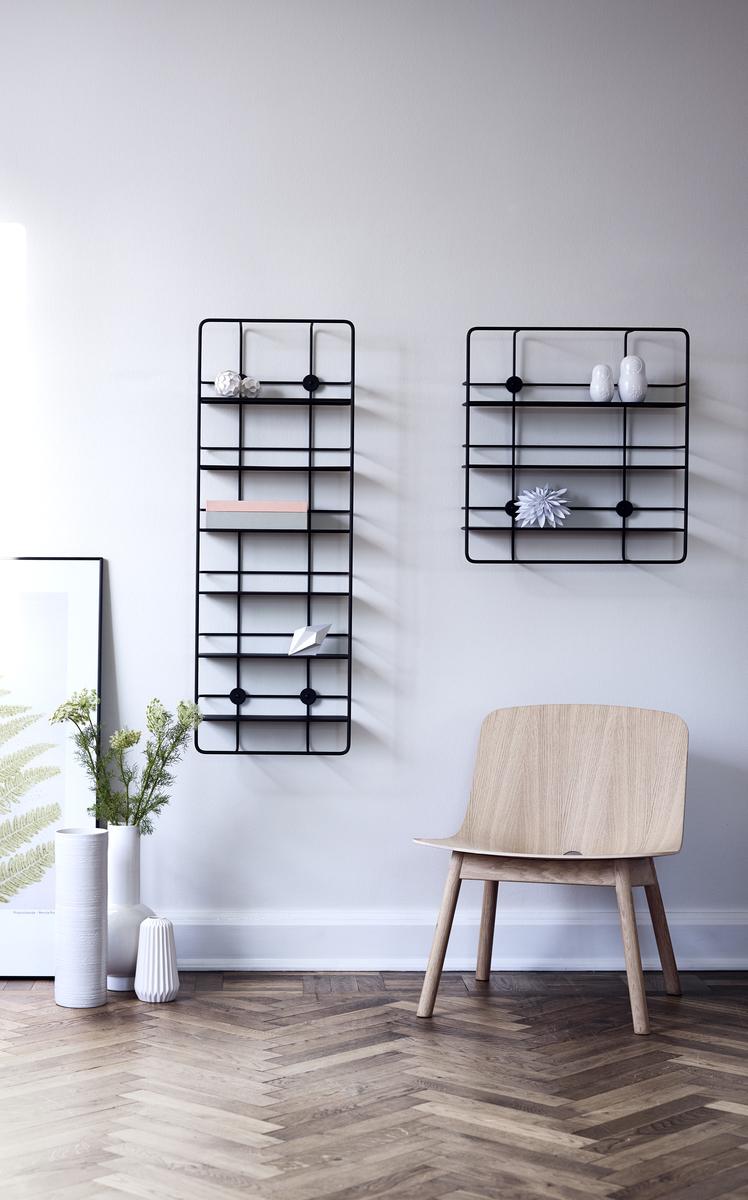 Woud: Woud Coupé Rectangular Shelf, Black