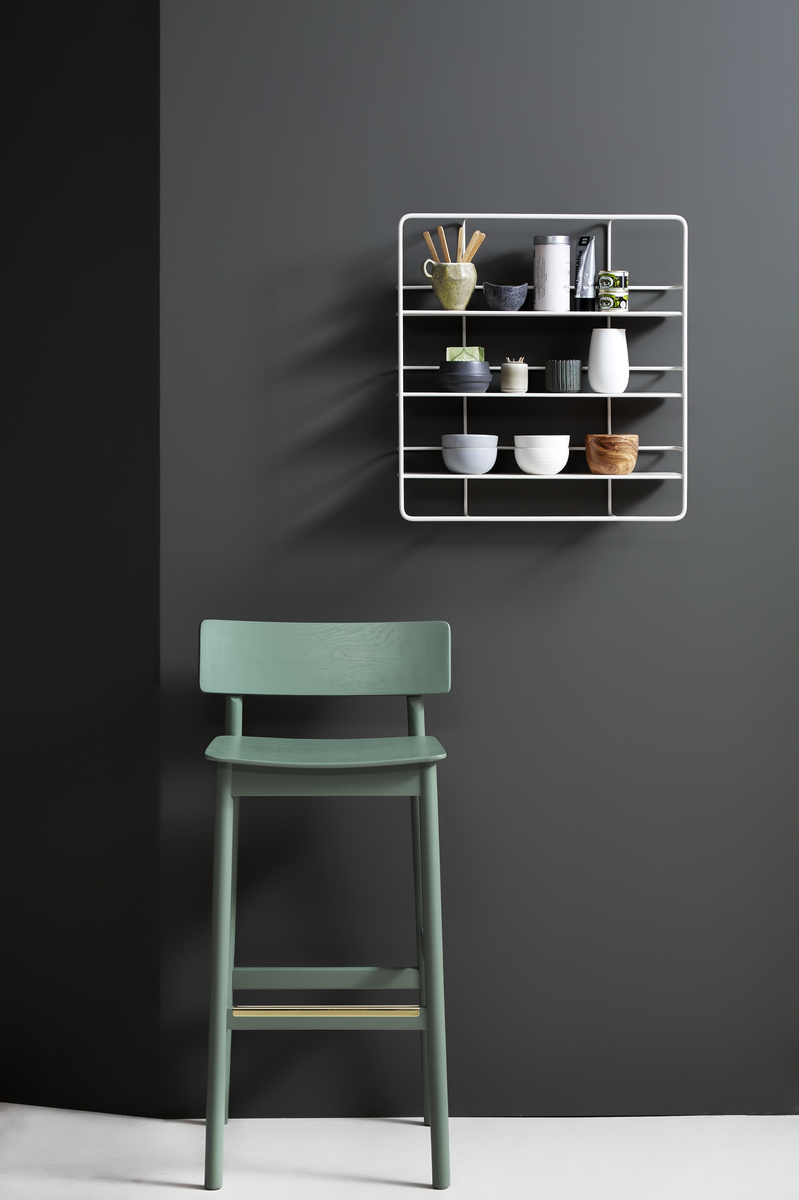 Wall To Wall Shelves woud coupé wall shelf, rectangular, white | finnish design shop