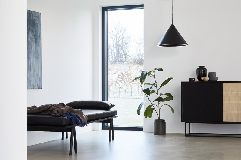 Woud Cuscino In Pelle Level Per Daybed Nero Finnish Design Shop