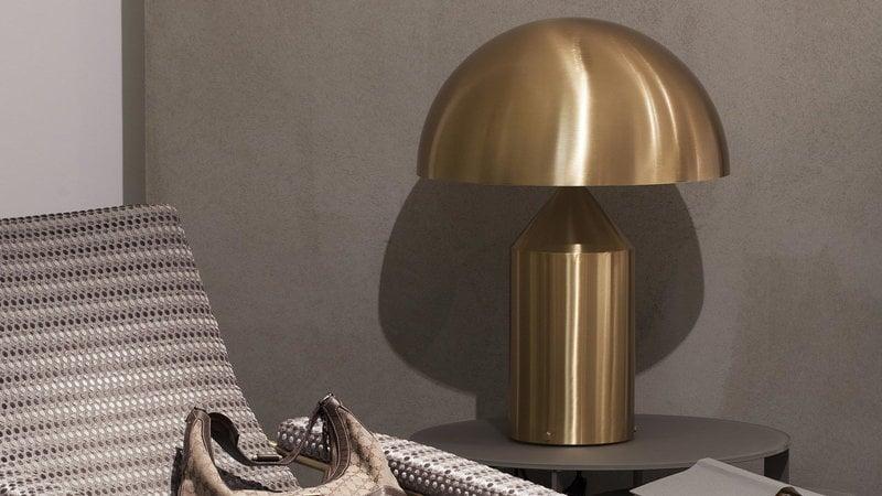 Oluce lampada da tavolo atollo 233 oro finnish design shop - Lampada da tavolo atollo ...
