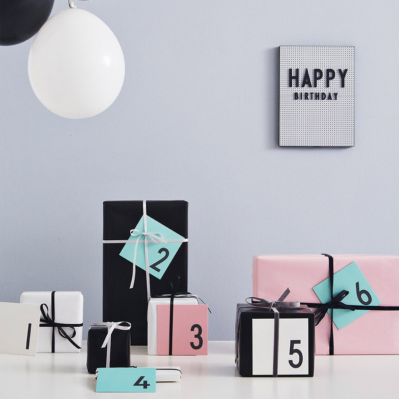 Design Letters Birthday Card White Finnish Design Shop