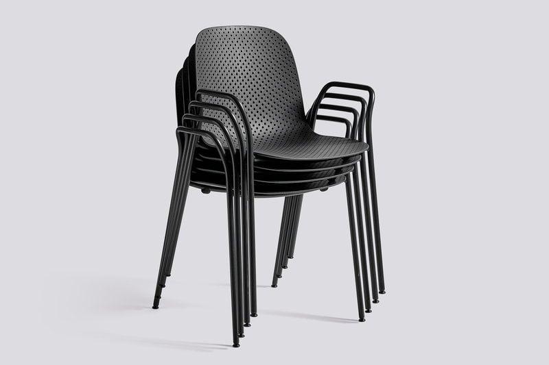 Hay sedia con braccioli 13eighty nero grafite soft black