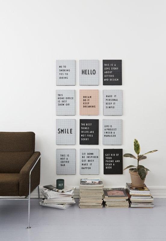 Design Letters Message Board A4 Black
