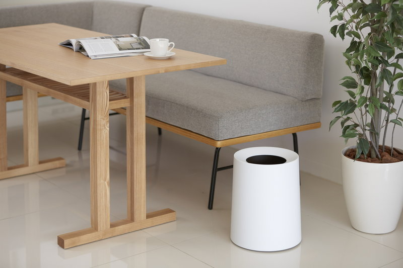 Ideaco Tubelor Homme Trash Can, White