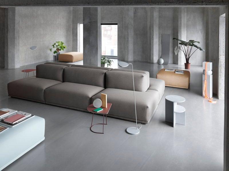 Muuto Halves Side Table Light Grey Finnish Design Shop
