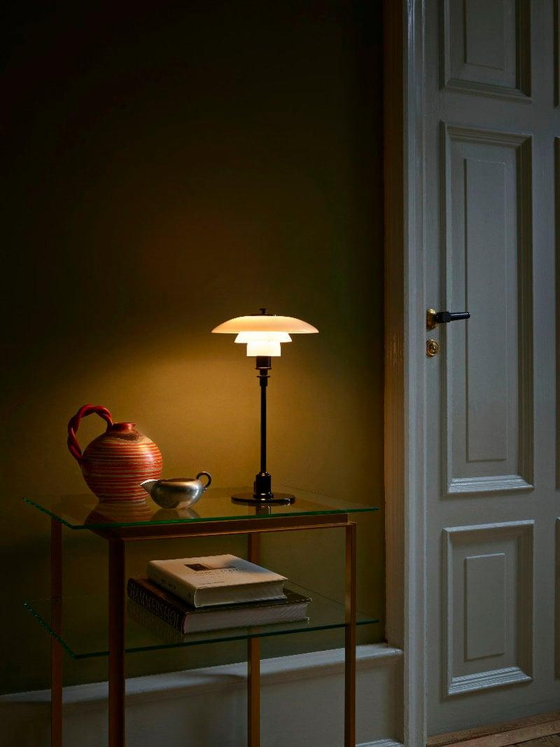 louis poulsen ph 2 1 table lamp metallised black opal glass finnish design shop. Black Bedroom Furniture Sets. Home Design Ideas