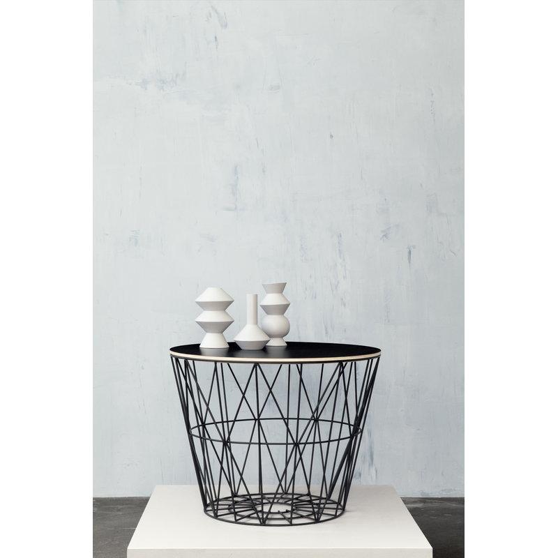 ferm living wire basket black finnish design shop. Black Bedroom Furniture Sets. Home Design Ideas