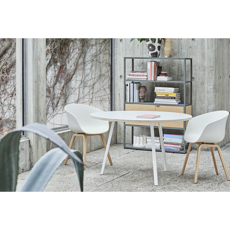 hay loop stand round table 120 cm white finnish design shop. Black Bedroom Furniture Sets. Home Design Ideas