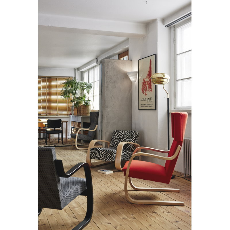 Armchair 400 � Tank� Lounge Chairs From Artek: Artek Aalto Tank Chair 400, Zebra Fabric