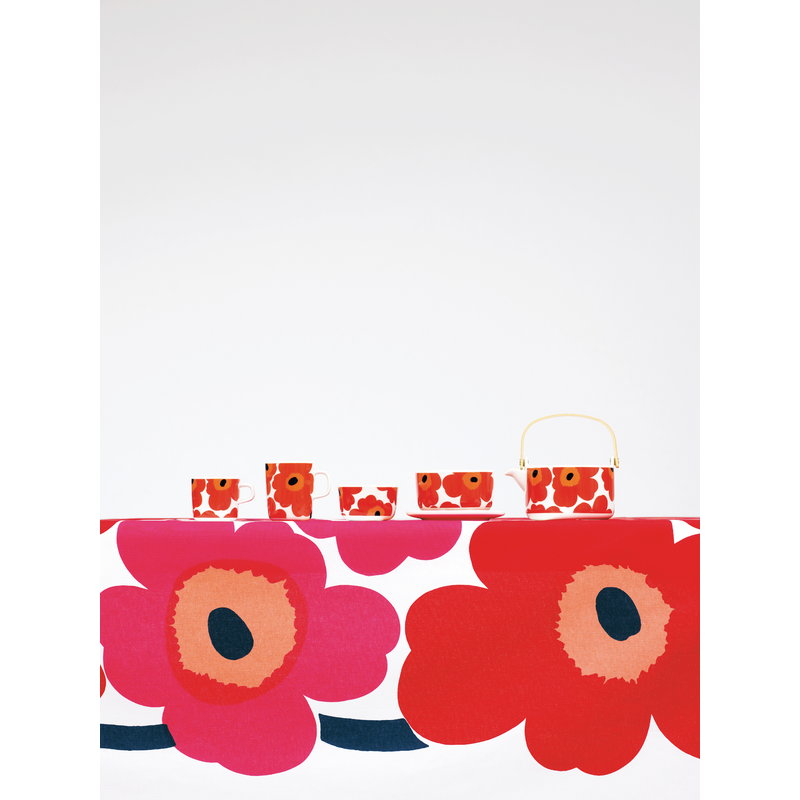 marimekko unikko fabric red finnish design shop. Black Bedroom Furniture Sets. Home Design Ideas